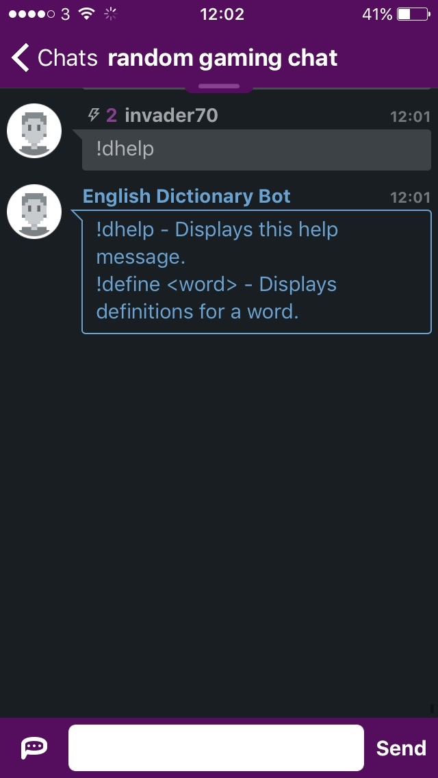 English Dictionary Bot