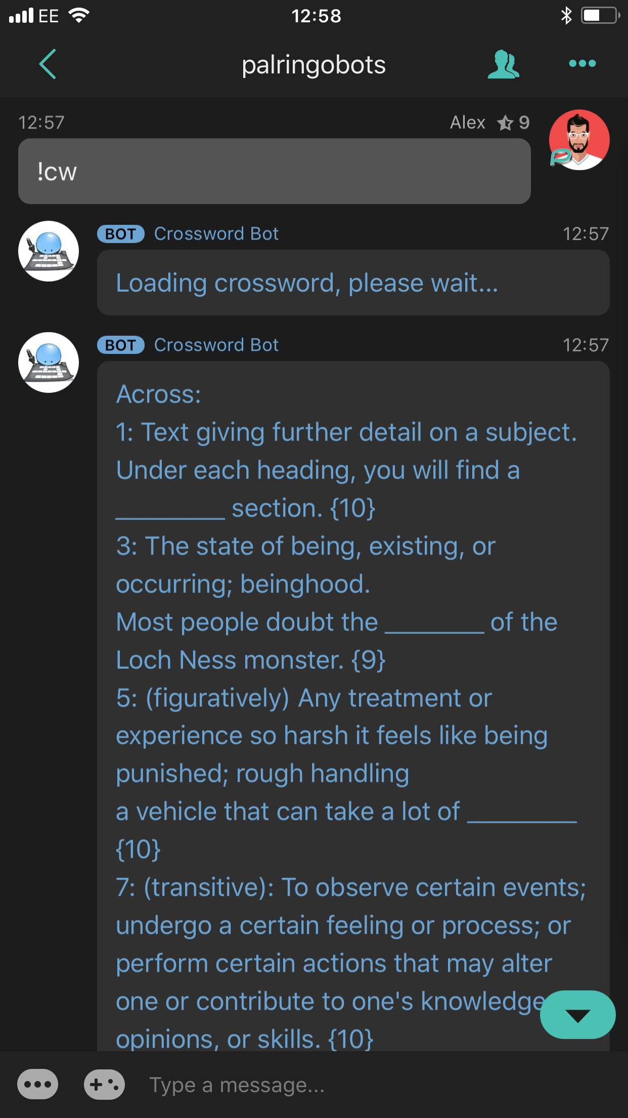 Crossword Bot